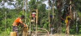 Construction of artesian well