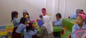 Operational donation for kinder garden
