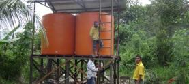 Installation of hygiene water